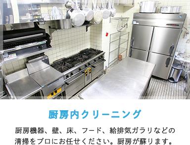 厨房内クリーニング